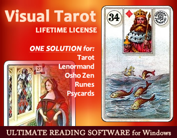 Visual Tarot - Lifetime License :: Ultimate Tarot Software :: One Solution for Tarot, Lenormand Cards, Osho-Zen Oracle, Runes, Psycards :: http://visualtarot.com